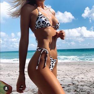 Plumeria swimwear bikini set